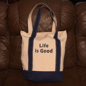 LIFE IS GOOD Canvas Carry On Tote Bag